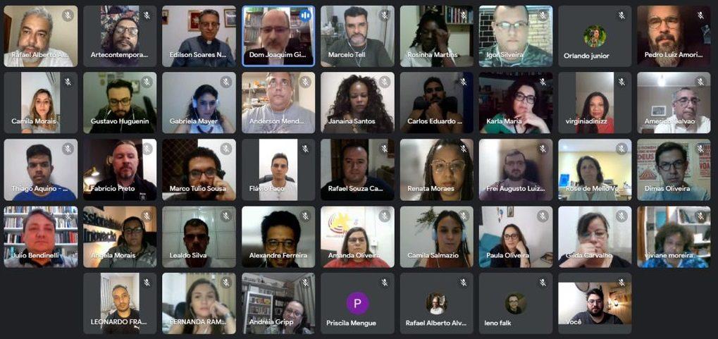 Coordenação da CNBB realiza reunião online com finalistas dos Prêmios de Comunicação