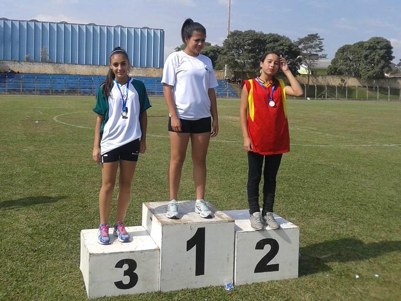Karine Ribeiro Carvalho, 3.º lugar nos 200m rasos.