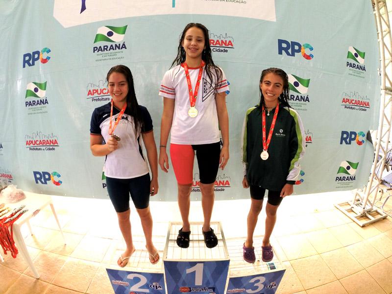 Gabriela de Belsol, 3.º lugar nos 100 metros borboleta