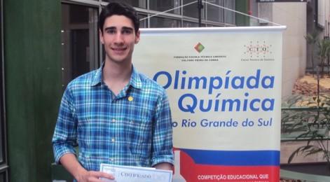 Aluno de Vacaria representará o Rio Grande do Sul na Olimpíada Brasileira de Química