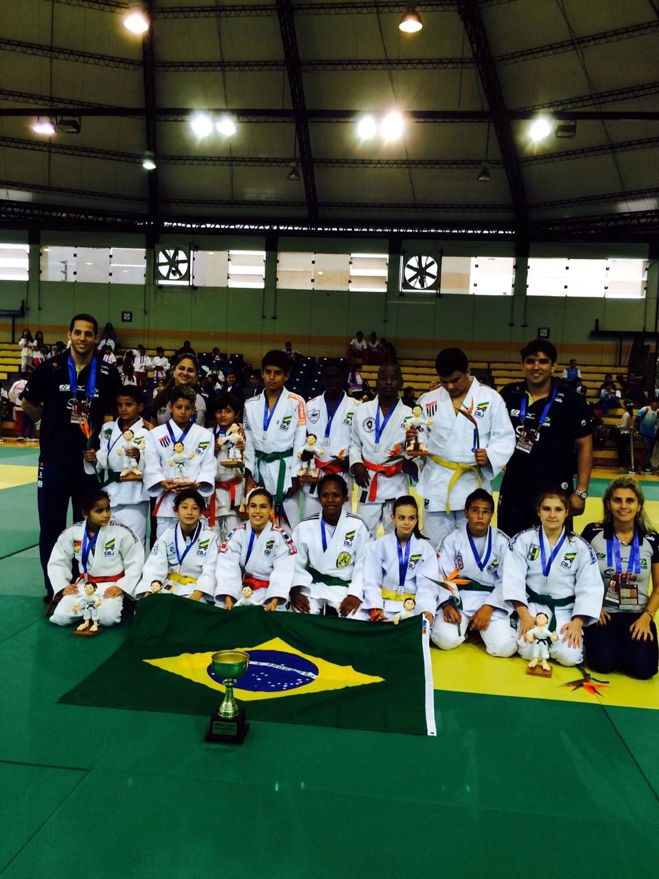 Finalistas do Campeonato Sul-Americano de Judô, que ocorreu no Peru.