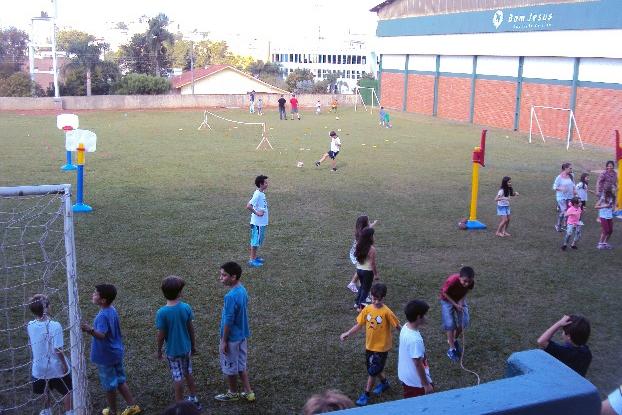 Brincando em Família no Bom Jesus Aurora, em Caçador (SC).