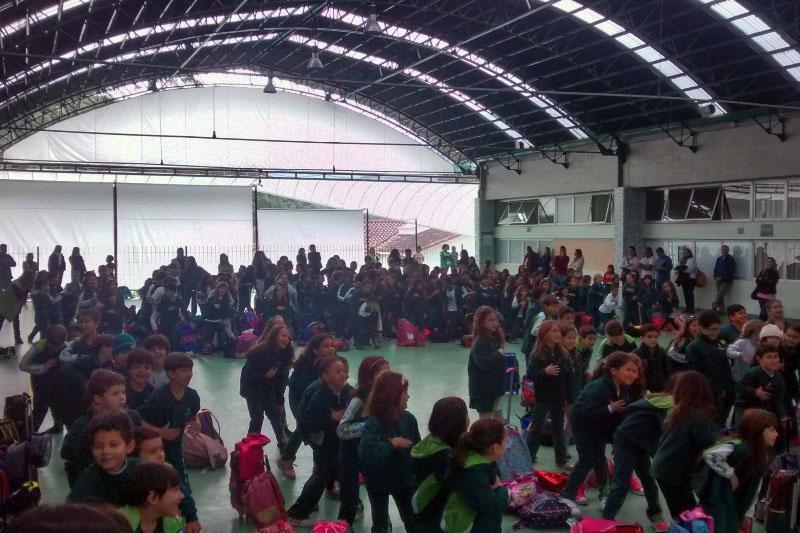 Dia do Desafio no BJ Canarinhos, em Petrópolis (RS).