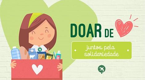 Drive thru solidário: Colégio Bom Jesus arrecada alimentos e produtos de higiene para famílias em situação de vulnerabilidade