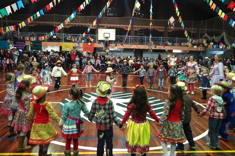Festa Junina no Bom Jesus São Miguel, em Arroio do Meio (RS)