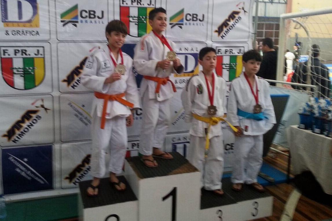 Campeonato Paranaense de Judô - Thiago Spindola, vice-campeão na categoria Sub-13 até 31 kg.