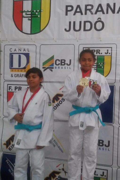 Campeonato Paranaense de Judô - Vanessa da Silva, campeã na categoria Sub-11 até 45 kg.