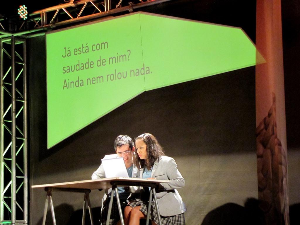 Peça Identidade Virtual, em Curitiba (PR).