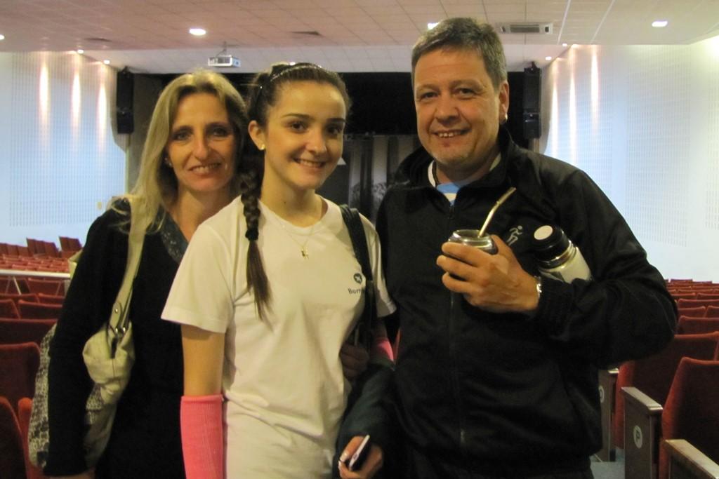 Esteban Mateos Aguilar e Mônica Gebauer Mateos, pais da estudante do Bom Jesus Centro, Paola Gebauer Mateos.