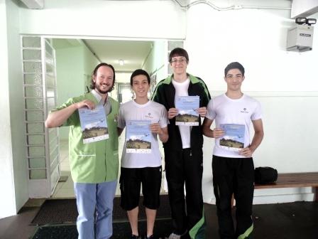 Equipe da Olimpíada Brasileira de Robótica.