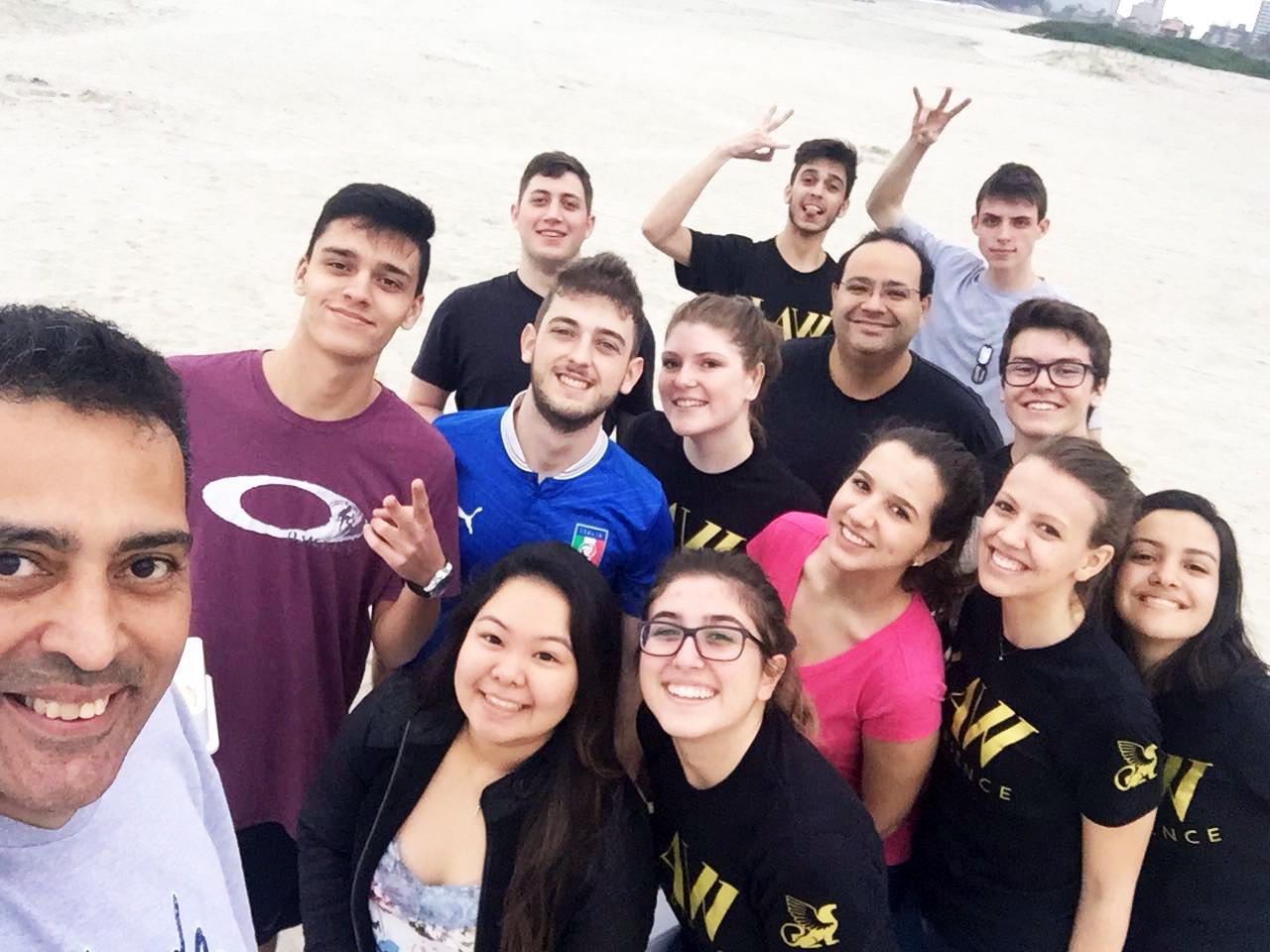 Equipe do LAW Experience - curso de Administração Integral da FAE