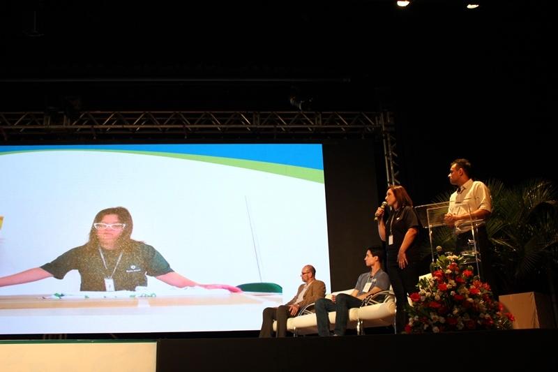 Exibição do vídeo institucional da Valor Brasil no V Seminário de Boas Práticas Socioambientais da Copel.