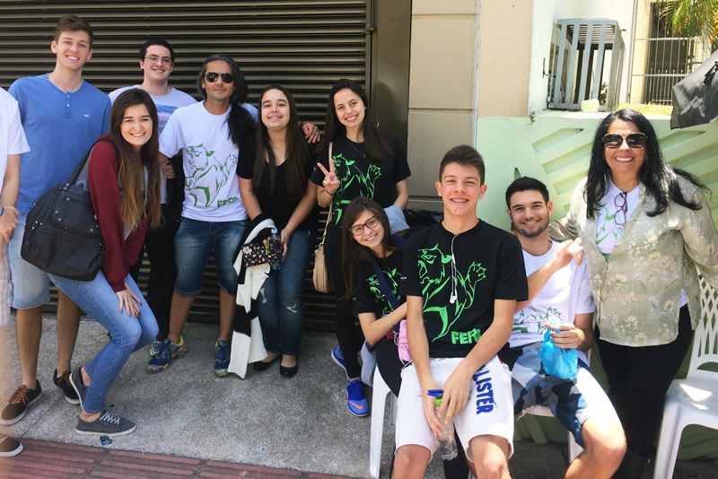 Concentração dos Feras do BJ Florianópolis para o vestibular da Acafe 2017.