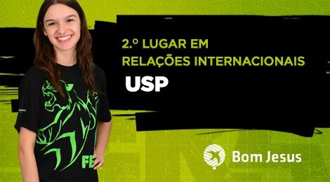 Estudante do Bom Jesus Santo Antônio é 2.º lugar de curso na USP