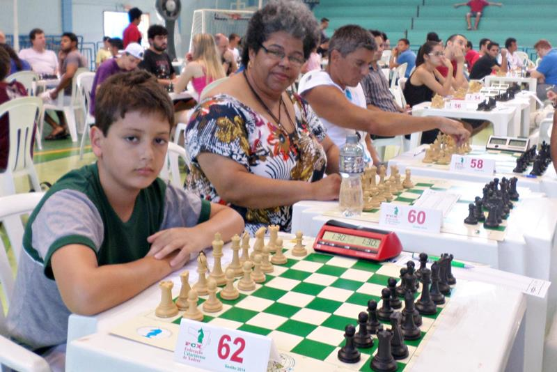 Gabriel de Borba, vice-campeão na categoria Sub-12 do Floripa Chess Open 2015.