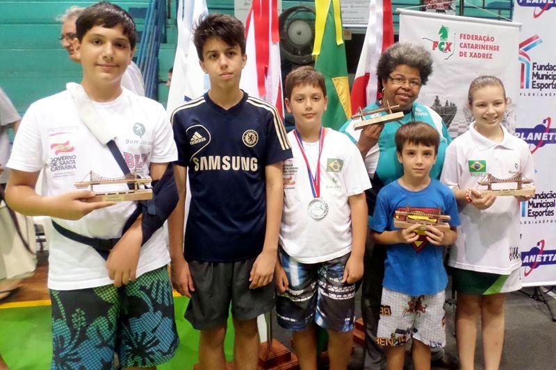 Equipe Bom Jesus no Floripa Chess Open 2015.