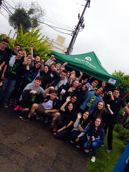 Concentração dos alunos do BJ Lages.