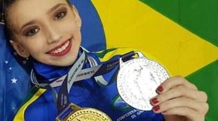 Aluna de Blumenau é campeã sul-americana de ginástica rítmica