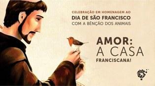 """Convite: Evento """"Celebração franciscana e bênção dos animais"""", no dia 02/10"""