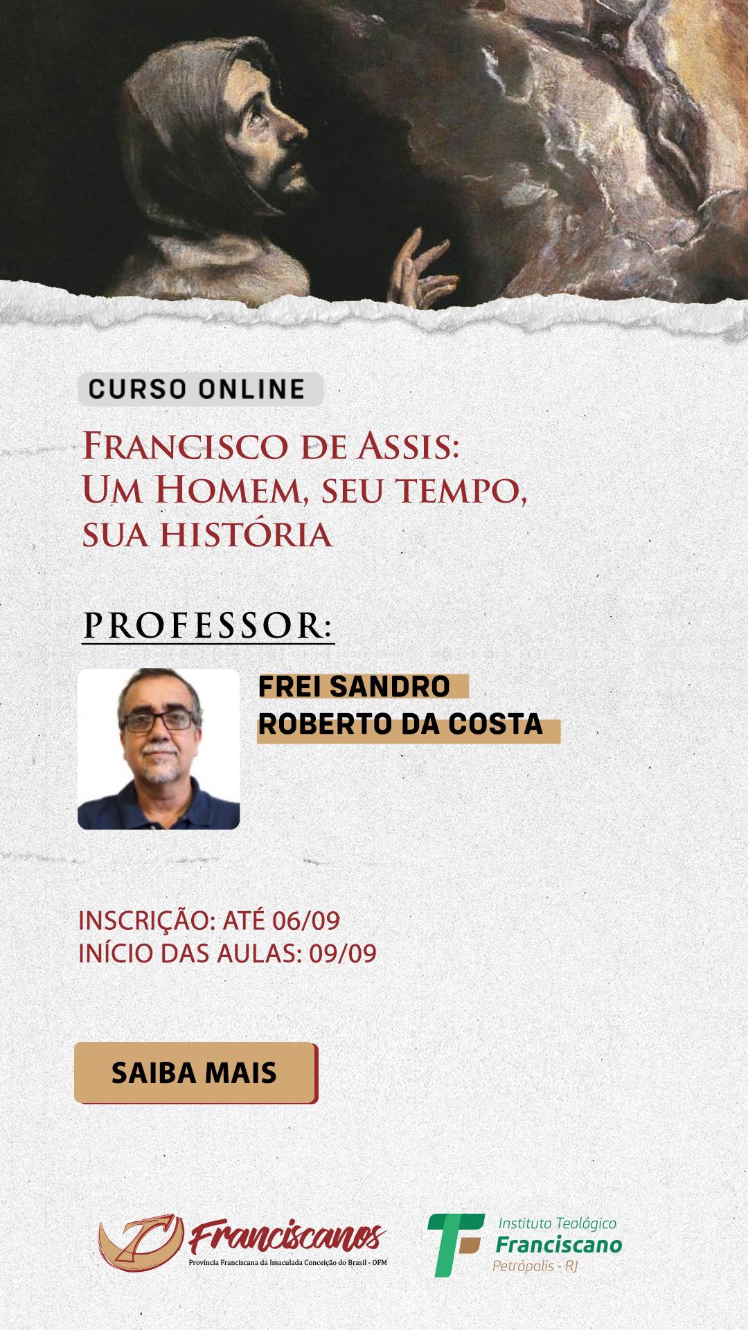 Curso de extensão - Francisco de Assis: Um Homem, seu tempo, sua história